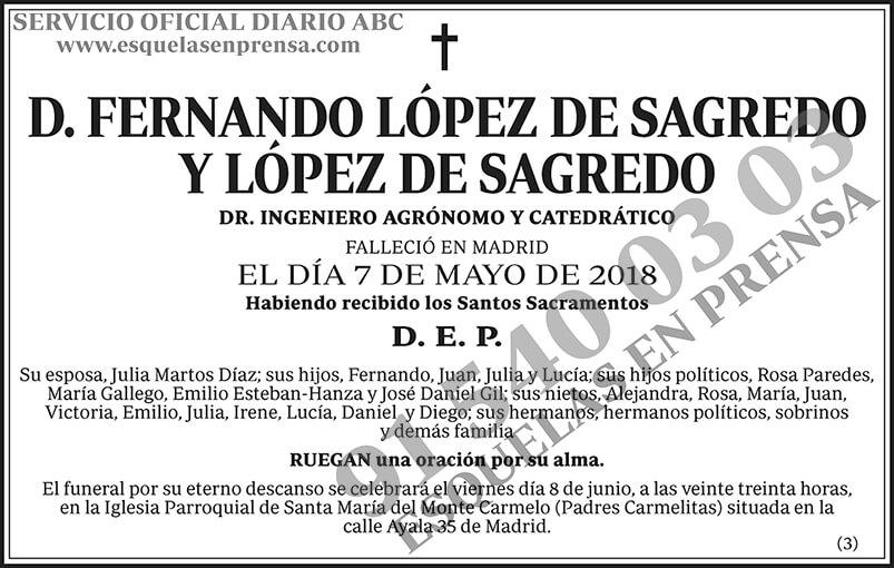 Fernando López de Sagredo y López de Sagredo